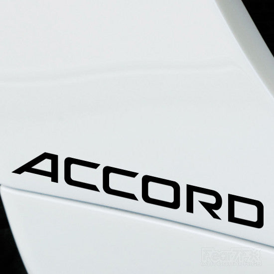 2x Accord Performance Tuning Vinyl Decal