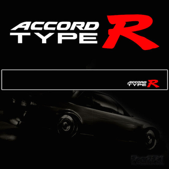 Accord Type R V2 Vinyl SunStrip Any 3 Colours