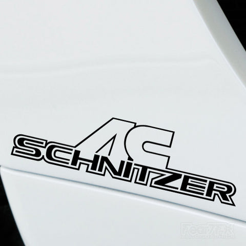 2x AC Schnitzer Performance Tuning Vinyl Decal