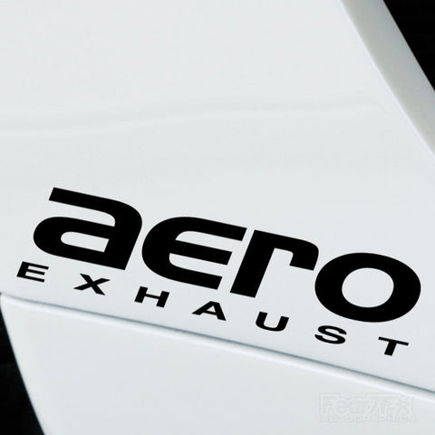 2x Aero Exhaust Performance Tuning Vinyl Decal