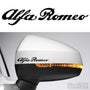 2x Alfa Romeo Side Mirror Vinyl Transfer Decals