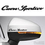 2x Cuore Sportivo Side Mirror Vinyl Transfer Decals