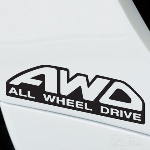 2x AWD All Wheel Drive Performance Tuning Vinyl Decal
