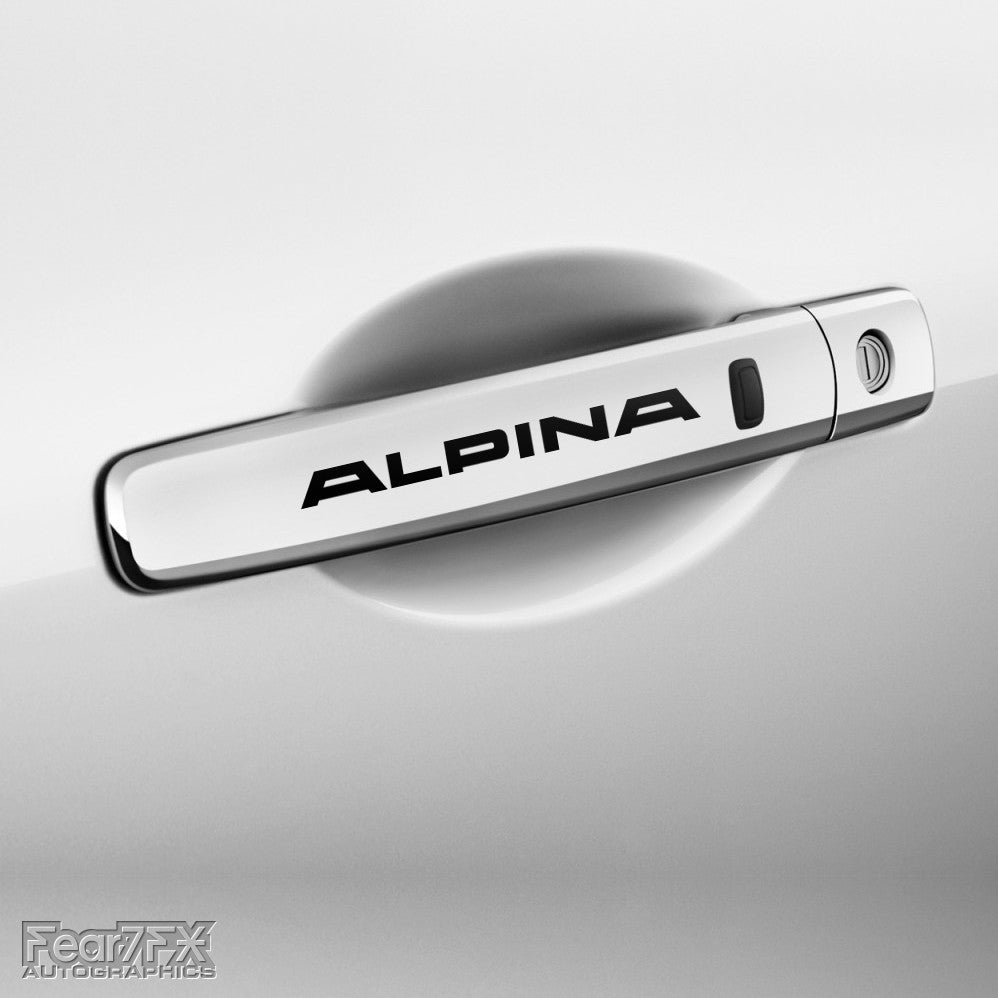4x Alpina Door Handle Vinyl Decals