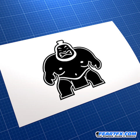 Angry Sumo JDM Car Vinyl Decal Sticker