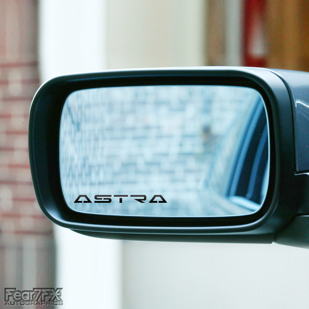 2x Astra Wing Mirror Vinyl Transfer Decals