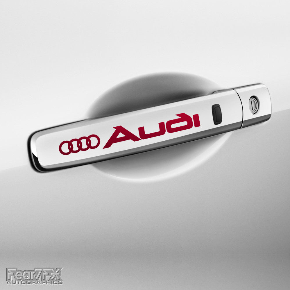 4x Audi Door Handle Vinyl Transfer Decals