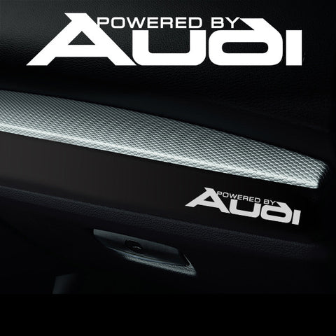 2x Audi Dashboard Powered By Vinyl Decal