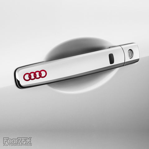 4x Audi Rings Door Handle Vinyl Transfer Decals