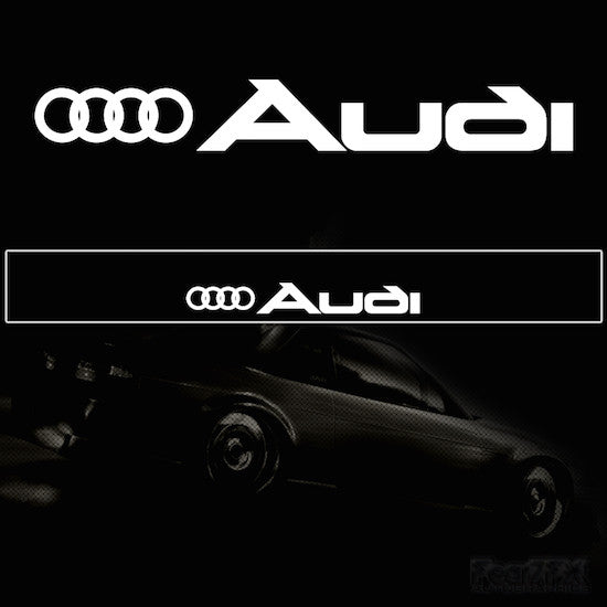 Audi + Ring V2 Vinyl Windscreen SunStrip Any 2 Colours