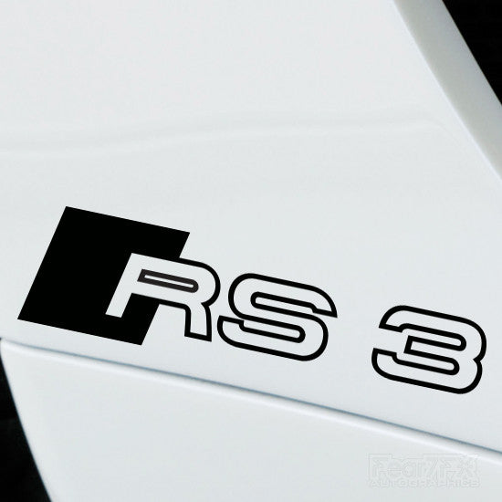 2x RS3 Performance Tuning Vinyl Decal