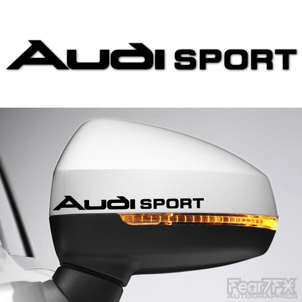 2x Audi Sport Side Mirror Vinyl Transfer Decals