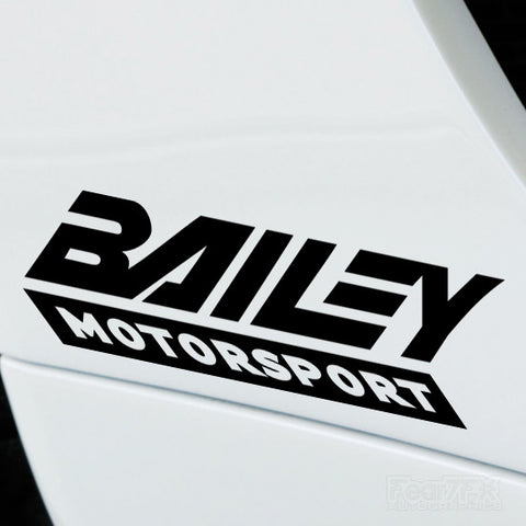 2x Bailey Motorsport Performance Tuning Vinyl Decal