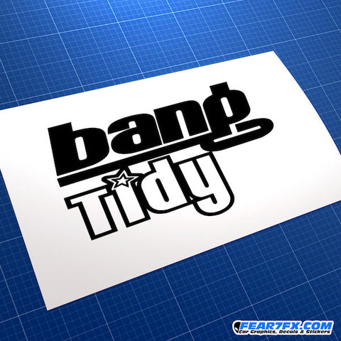 Bang Tidy JDM Car Vinyl Decal Sticker