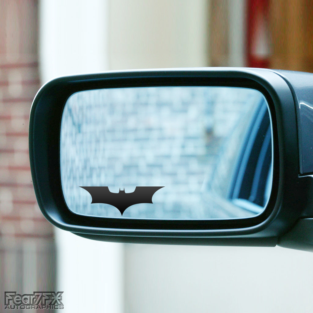 2x Batman Wing Mirror Vinyl Transfer Decals