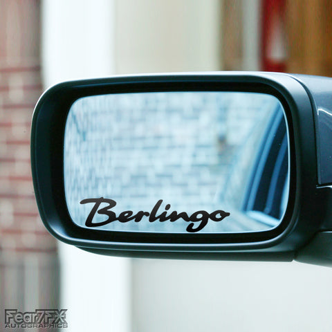 2x Berlingo Wing Mirror Vinyl Transfer Decals