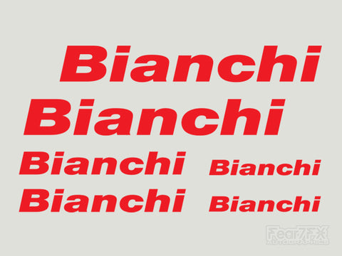 6x Bianchi Bike Vinyl Transfer Decals