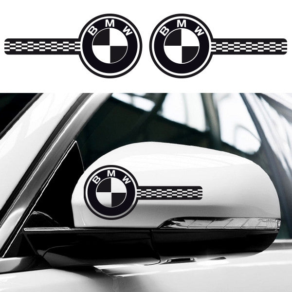 2x BMW Custom Wing Mirror Vinyl Decals
