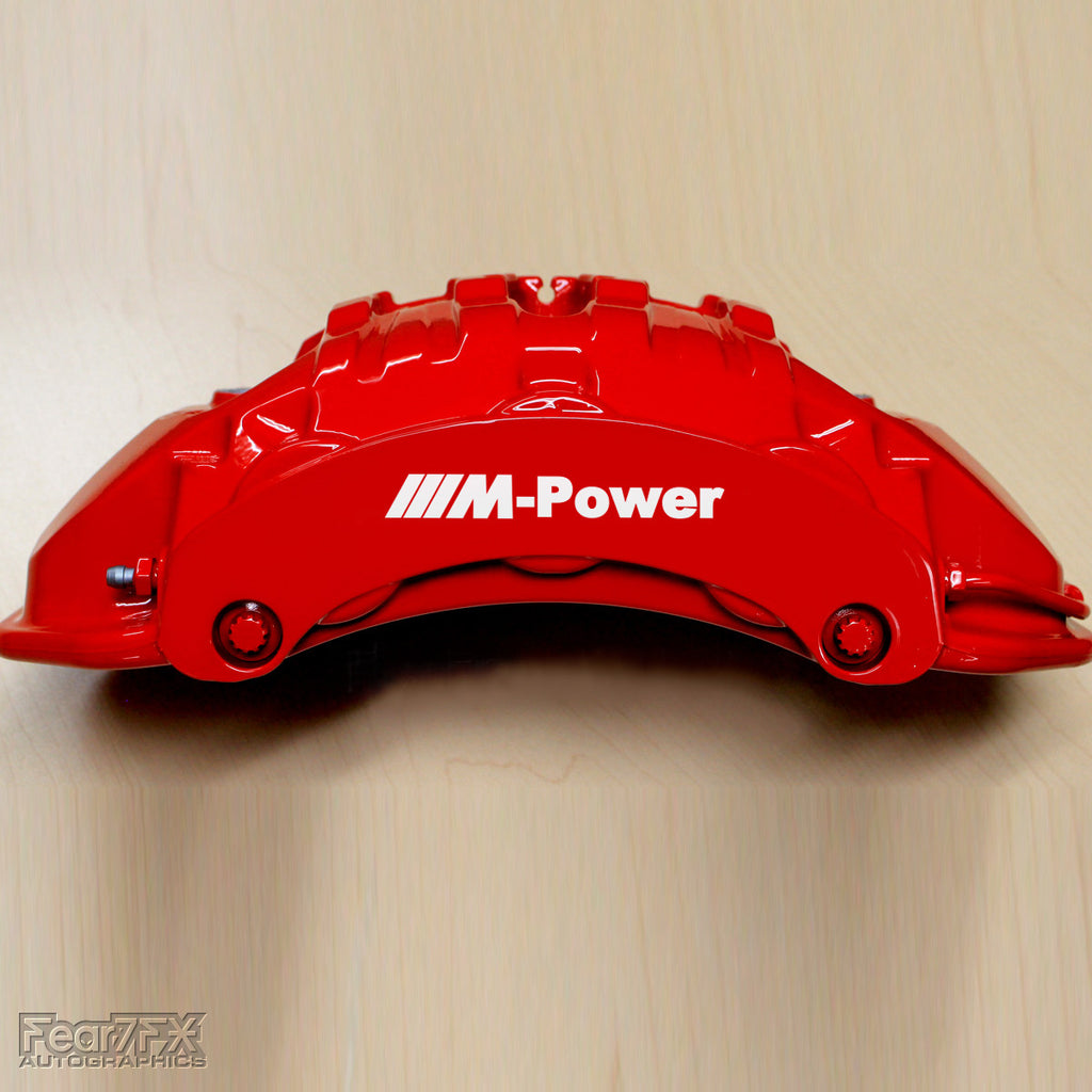 5x BMW M-Power Brake Caliper Vinyl Decals