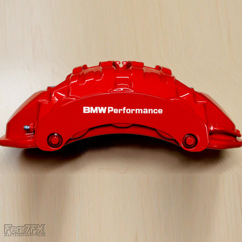 5x BMW Performance Brake Caliper Vinyl Decals