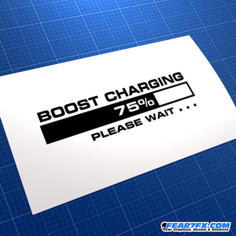 Turbo Boost Charging Please Wait... JDM Car Vinyl Decal Sticker