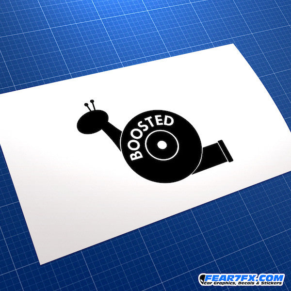 Boosted Snail JDM Car Vinyl Decal Sticker
