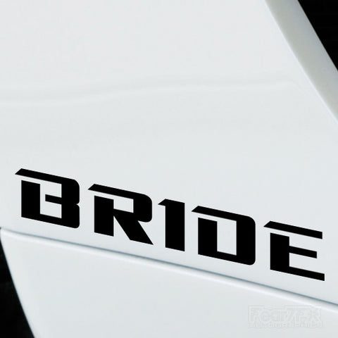 2x Bride Performance Tuning Vinyl Decal