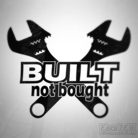 Built Not Bought! Euro JDM Decal Sticker V3