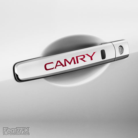 4x Camry Door Handle Vinyl Transfer Decals
