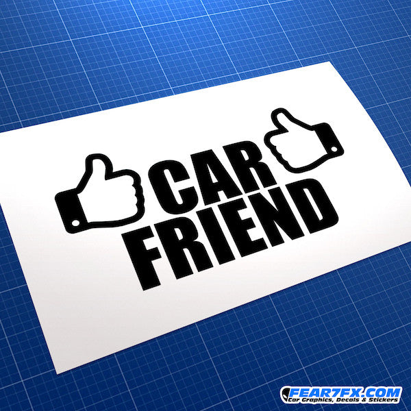 Car Friend Funny JDM Car Vinyl Decal Sticker