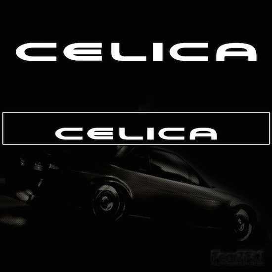 Celica Vinyl Windscreen SunStrip Any 2 Colours