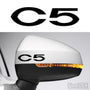2x C5 Side Mirror Vinyl Transfer Decals
