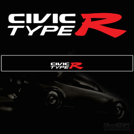 Civic Type R Vinyl Windscreen SunStrip Any 3 Colours