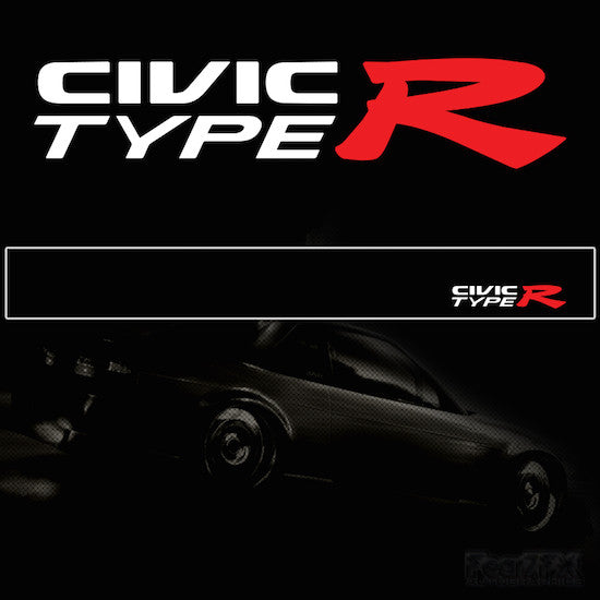 Civic Type R Vinyl SunStrip Any 3 Colours