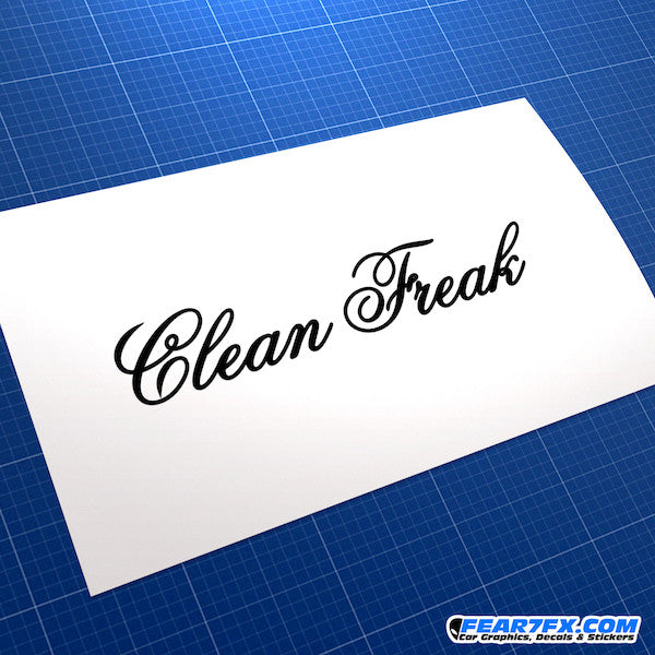 Clean Freak JDM Car Vinyl Decal Sticker