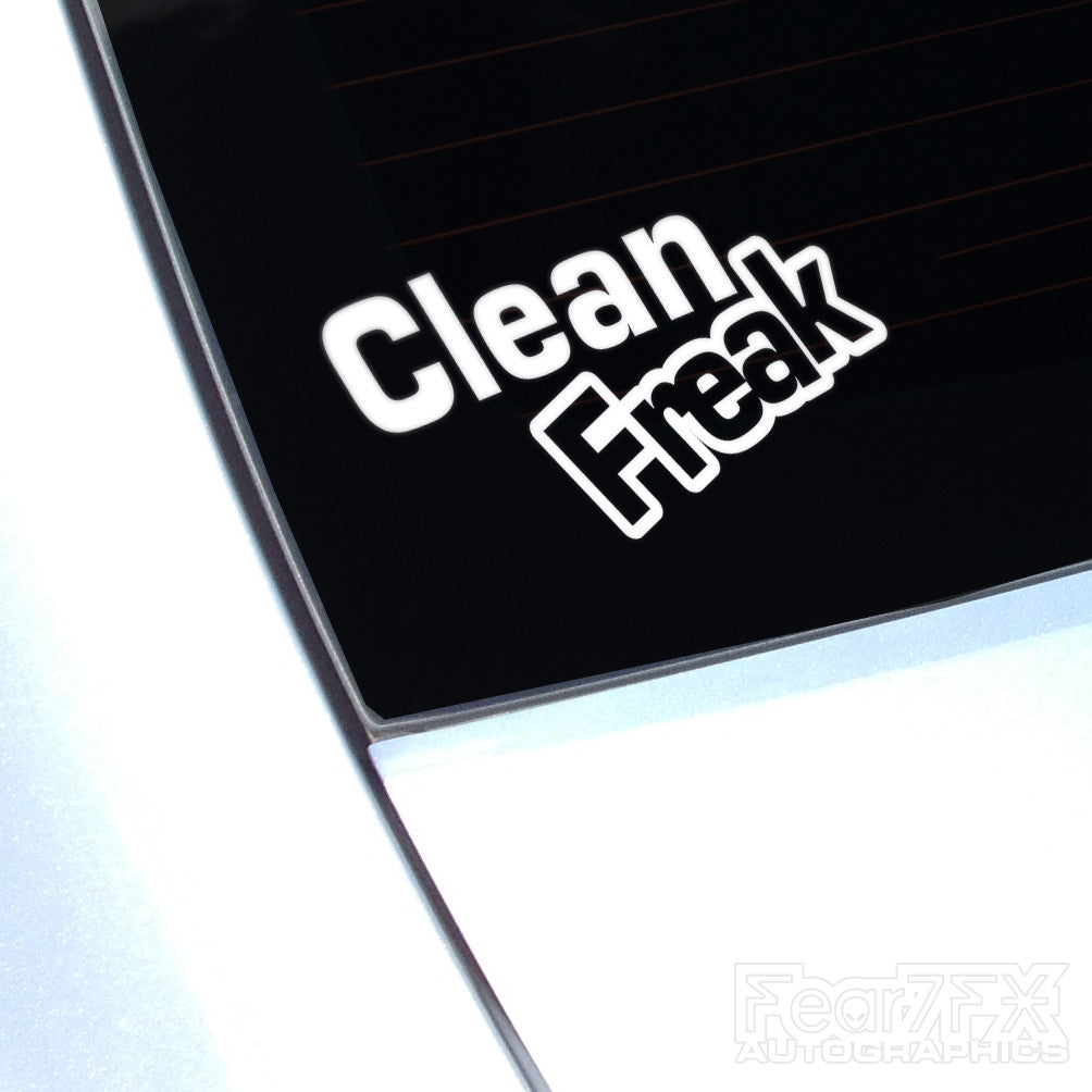 Clean Freak Euro Decal Sticker