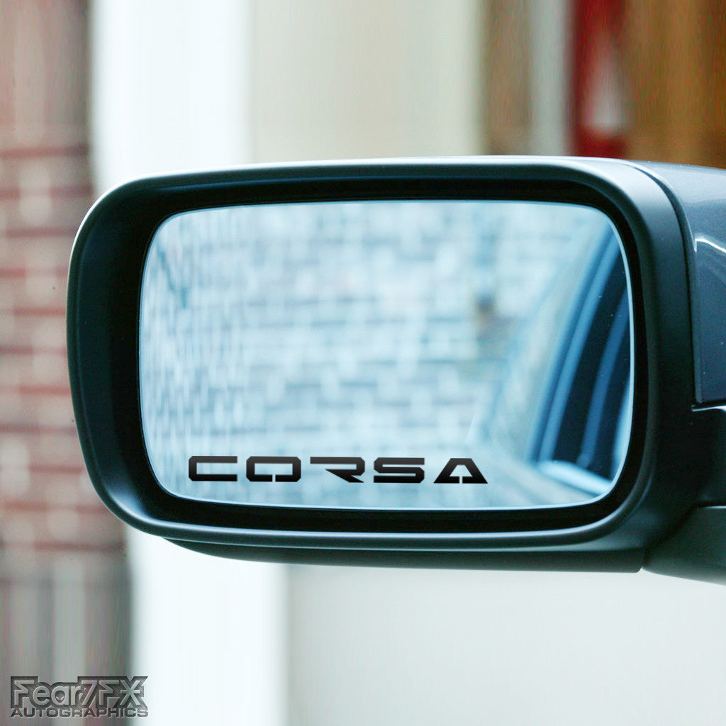 2x Corsa Wing Mirror Vinyl Transfer Decals