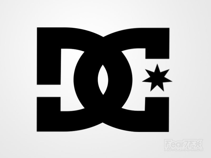 2x DC Logo Vinyl Transfer Decal