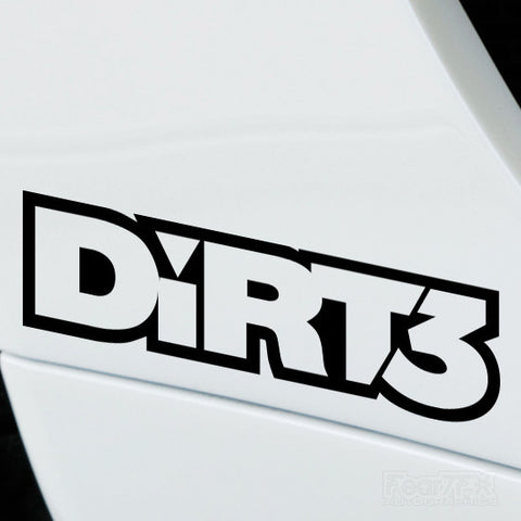 2x Dirt3 Performance Tuning Vinyl Decal