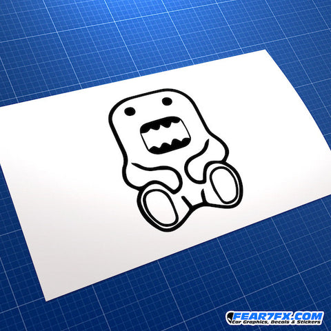 Domo Kun Jap Mascot JDM Car Vinyl Decal Sticker
