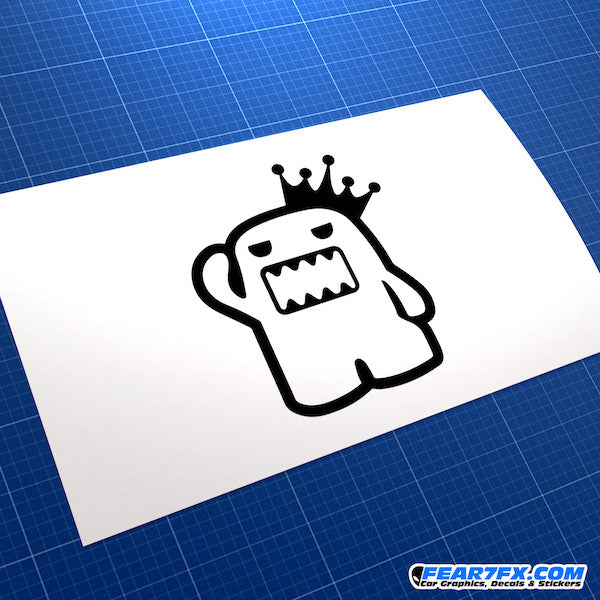 Domo Kun King Jap Mascot JDM Car Vinyl Decal Sticker