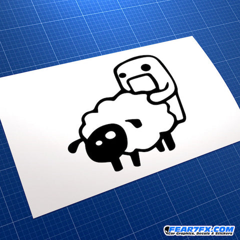Domo Kun Sheep Jap Mascot JDM Car Vinyl Decal Sticker