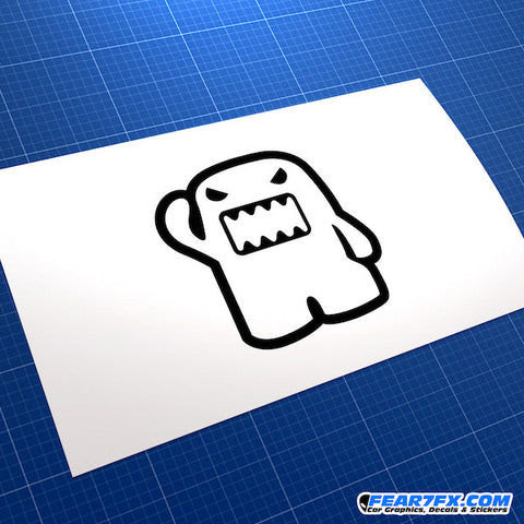 Domo Kun Evil Jap Mascot JDM Car Vinyl Decal Sticker