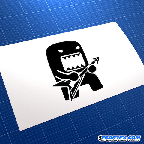 Domo Kun Rock Star Jap Mascot JDM Car Vinyl Decal Sticker