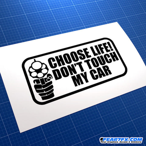 Don't Touch My Car Funny JDM Car Vinyl Decal Sticker