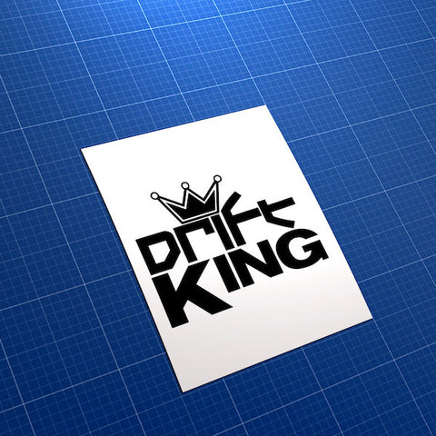 Drift King Crown Race Car JDM Car Vinyl Decal Sticker