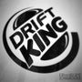 Drift King Burger Funny JDM Euro Decal Sticker