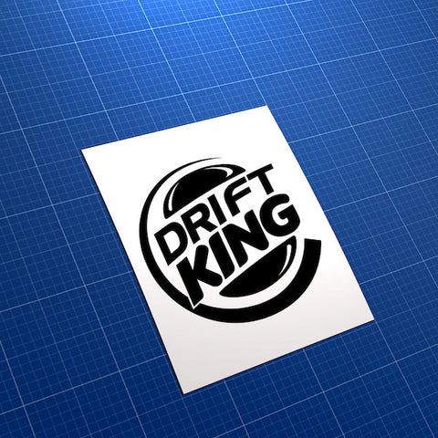 Drift King Burger King Style Car JDM Car Vinyl Decal Sticker