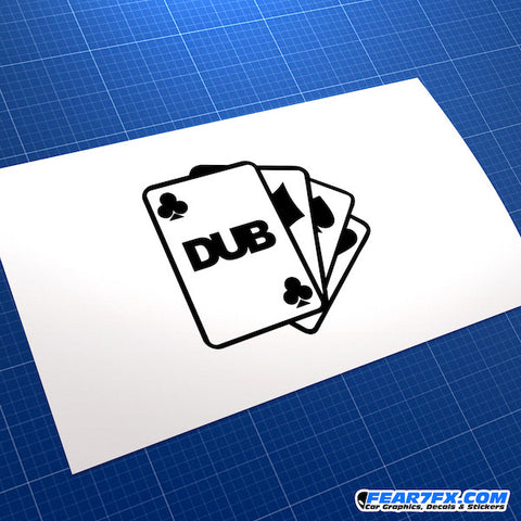 Dub Club Cards JDM Car Vinyl Decal Sticker