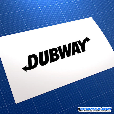 DUBWAY Dub JDM Car Vinyl Decal Sticker